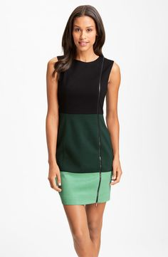 Laundry by Shelli Segal Colorblock Exposed Zipper Sheath Dress (Online Exclusive)
