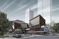 Segundo Lugar en Concurso público del diseño de nueva cinemateca distrital de Bogotá / Colombia