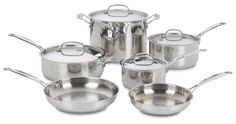 Nice Cuisinart 77-10 Chef's Classic Stainless 10-Piece Cookware Set
