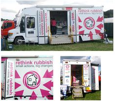 branding and livery for an exhibition vehicle for East Sussex County Council.