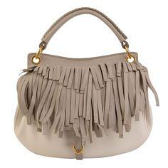 MIU MIU Fringe Hobo Bag ($930) ❤ liked on Polyvore featuring bags, handbags, shoulder bags, borse, purses, taupe, hobo handbags, miu miu purse, fringe tassel shoulder bag and brown hobo shoulder bag