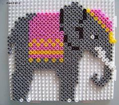 Elephant hama perler beads