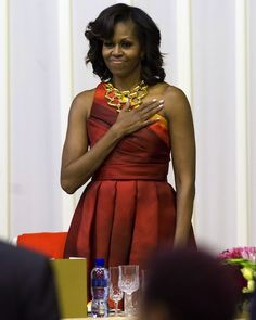 First Lady Michelle Obama in Africa.