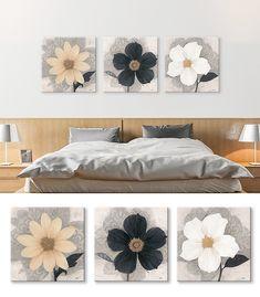 Mini Canvas Art, Wall Decor, Wall Art, Art Studios, Paper Flowers, Room, Paintings, Furniture, Home Decor