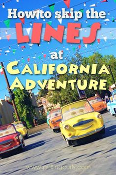 The Disneyland California Adventure Rides fill up SUPER fast -- so knowing which rides to go when will allow you to have a great day! Hotels Near Disneyland, Disneyland Secrets, Disney California Adventure Park, Disneyland Vacation, Disney Vacation Planning, Disney Vacations, Disney Trips, Disneyland Hacks, Disneyland 2016