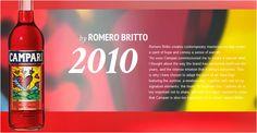 #Campari Limited Edition 2010 designed by #Romero #Britto.