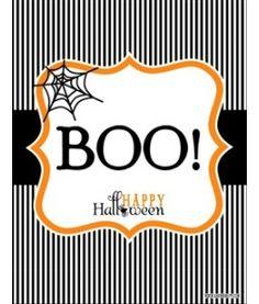 "Halloween ""BOO"" Printables"