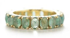 dawes- emerald facet eternity ring