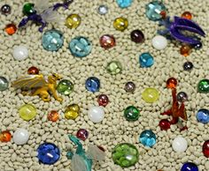 A fun fairy tale activity with dragons, gems, and beans.
