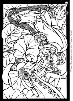 Fairyland Stained Glass Coloring Book Dover Publications