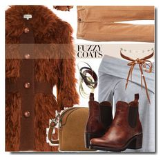 """""""Fuzzy Coats"""" by soks ❤ liked on Polyvore featuring Isa Arfen, Marc Jacobs, Frye, Pat McGrath, Chan Luu, outfit, polyvoreeditorial and fuzzycoat"""