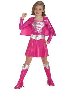 Child Pink Supergirl Super Hero Costume   Simply Fancy Dress