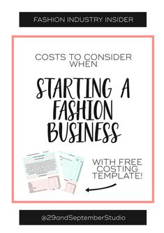 Costs to consider when starting a fashion business The Fashion Business Coach - Starting A Business - Ideas of Starting A Business - Costs to consider when starting a fashion business Starting Your Own Business, Start Up Business, Business Tips, Business Meme, Online Business, Business Formal, Business Networking, Business Entrepreneur, Business Attire