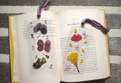 Diy Pressed Flower Laminated Bookmarks  •  Free tutorial with pictures on how to make a bookmark in under 30 minutes