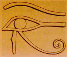 The Left Eye of Horus represents abstract aesthetic information controlled by the right brain. It deals with esoteric thoughts and feelings and is responsible for intuition. It approaches the universe in terms of female oriented ideation. We use the Left Eye, female oriented, right side of our brain for feeling and intuition.