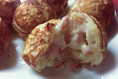 Mad æbleskiver med skinke og ost