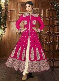 Mouni Roy Hot Pink Anarkali Suit
