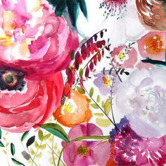 Bloom Floral Illustration http://www.lovelyclusters.com/2015/04/bloom-floral-illustration-art-watercolor.html #art #watercolor