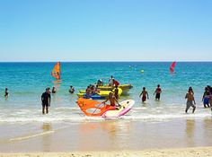 #Beach Meia Praia, Algarve, Portugal | via http://blog.turismodoalgarve.pt