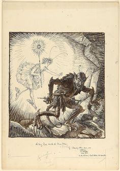 Edmund Joseph Sullivan - The Fairy Radio Banishes the Demon Dulness, 1926