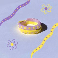 Fimo Ring, Polymer Clay Ring, Funky Jewelry, Clay Jewelry, Jewellery, Diy Clay Rings, Biscuit, Cute Clay, Clay Charms