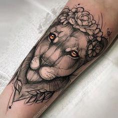 @reh.tattoo #liontattoo #liontattoos