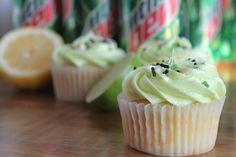 Mountain Dew Cupcakes by The Baking Robot Cupcake Recipes, Cupcake Cakes, Dessert Recipes, Cup Cakes, Cupcake Ideas, Frosting Recipes, Dessert Ideas, No Bake Treats, Yummy Treats