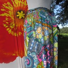 Vintage 60's 70s MOD TWIGGY SEXY Retro Hippie Floral Earth Angel Wrap Skirt XS