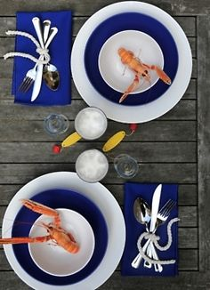 Utensils tied with nautical rope