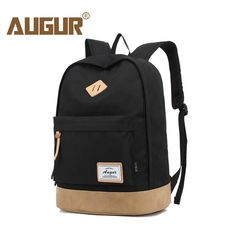 AUGUR Men Women Backpack School Bag for Teenagers College Waterproof Oxford Travel  Bag 15inch Laptop Back packs Bolsas Mochila f0f62849a60de