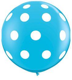 Blå polkadot GIGA ballong