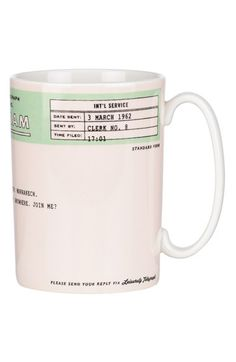 kate spade new york 'snap happy - telegram' porcelain mug available at #Nordstrom