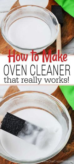 Homemade Oven Cleaner is easy to make and all natural. Learn to clean your oven without all the heavy fumes and make this all natural oven cleaner recipe. You will love how clean this oven cleaner makes your oven! Try making your own oven cleaner today! Best Oven Cleaner, Natural Oven Cleaner, Homemade Oven Cleaner, Cleaners Homemade, Easy Off Oven Cleaner, All Natural Cleaners, Diy Cleaners, Homemade Cleaning Products, Household Cleaning Tips