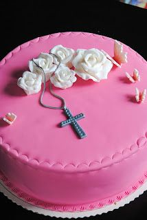 Homemade by MI: Mariannen rippikakku / First Communion cake for Ma...