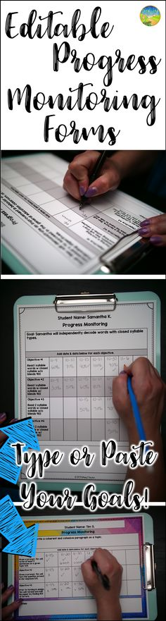 EDITABLE Progress monitoring Forms! Great tool for special education teachers or interventionists.