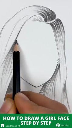 Art Drawings Beautiful, Art Drawings For Kids, Art Drawings Sketches Simple, Pencil Art Drawings, Realistic Drawings, Pencil Sketch Art, Sketches Of Girls Faces, Beauty Art, Art Tutorials