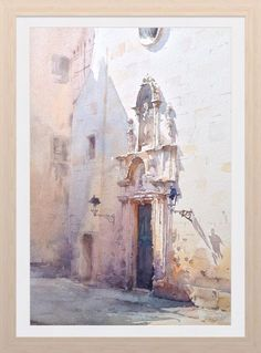 Watercolor architecture by Igor Sava Art Aquarelle, Watercolor Drawing, Watercolor Landscape, Painting & Drawing, Watercolor Paintings, Watercolors, Watercolor Architecture, Art And Architecture, Oeuvre D'art