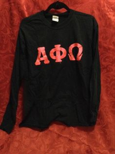 Alpha PHI Omega Co Ed Fraternity Long Sleeve T Shirt Size Large | eBay