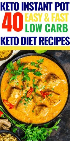40 Keto Instant Pot Recipes Searching for low carb keto diet recipes for your Instant Pot? Make these low carb keto recipes quick and fast for dinner tonight! Whether you're looking for chicken, beef, pork, or vegetarian keto recipes for your instant pot