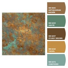 Paint colors from Chip It! by Sherwin-Williams Exterior Paint Colors, Paint Colors For Home, House Colors, Tuscan Paint Colors, Copper Paint Colors, Paint Color Schemes, Colour Pallete, Color Combos, Painting Tips