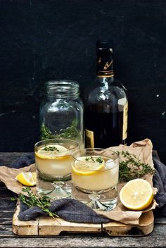 A half lemon can always be pressed into good use for a tasty beverage! Hiss & Pop [Thyme Ginger Beer + Dark and Stormy Recipe]