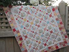 MADE TO ORDER Beautiful patchwork baby quilt featuring Peter Rabbit, Jemima Puddleduck, Mrs Rabbit, Benjamin Bunny and , in a traditional Irish chain, using fabric from the 3 Sisters Lario range to produce the scrappy cottage chic look. 36 x 45 inches with 100 percent cotton top, soft and snuggly 100% cotton batting and 100 percent cotton Beatrix Potter fabric for the backing. Machine pieced and quilted in cream cotton thread in a floral pattern, making this gorgeous quilt reversible, and a…