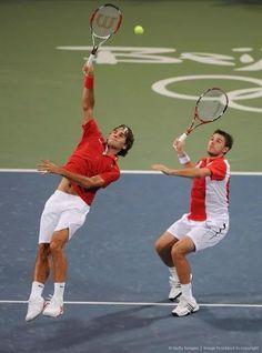 Swiss team Stansilas Wawrinka & Roger Federer