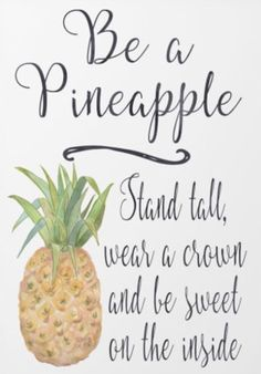 "If you need a little MOTIVATION to get your week off to a good start, step back and ""Be a Pineapple""! ‪ #‎OHMotivationalMonday‬ ‪#‎MotivationalMonday‬ ‪#‎OurHealthVirginia"