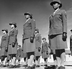 And while we're on the subject of World War II, I can't forget about the sisters that served in the military. This is a photo of some members of the Women's Army Corps. It was taken by a photographer in 1943.