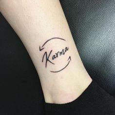 Arrow Tattoo : Beautiful And Cute Arrow Tattoo Designs - Blurmark - Karma Tattoo. Karma Tattoo Symbol, 4 Tattoo, Shape Tattoo, Tattoo Script, Karma Tattoos, Karma Tattoo Ideas, Tattoo Flash, Dragon Tattoo For Women, Tattoos For Women