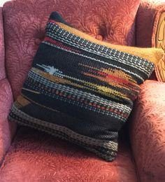 Handwoven   with wool fabrics and wool yarns for the clasped weft