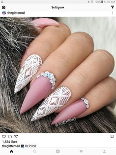 perfect pink nail art designs ideas for christmas Long Nail Designs, Beautiful Nail Designs, Cute Nail Designs, Pink Nail Art, Pink Nails, Halloween Nail Designs, Halloween Nails, Cute Nails, Pretty Nails