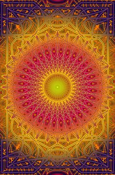 New Dawn Mandala Poster - The Mandala Forest