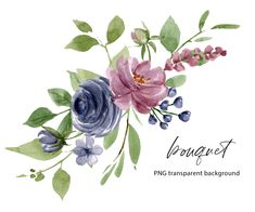 Wreath Watercolor, Watercolor Flowers, Free Advertising, Frame Clipart, Flower Clipart, Frame Wreath, Print Templates, Digital Illustration, Wedding Bouquets